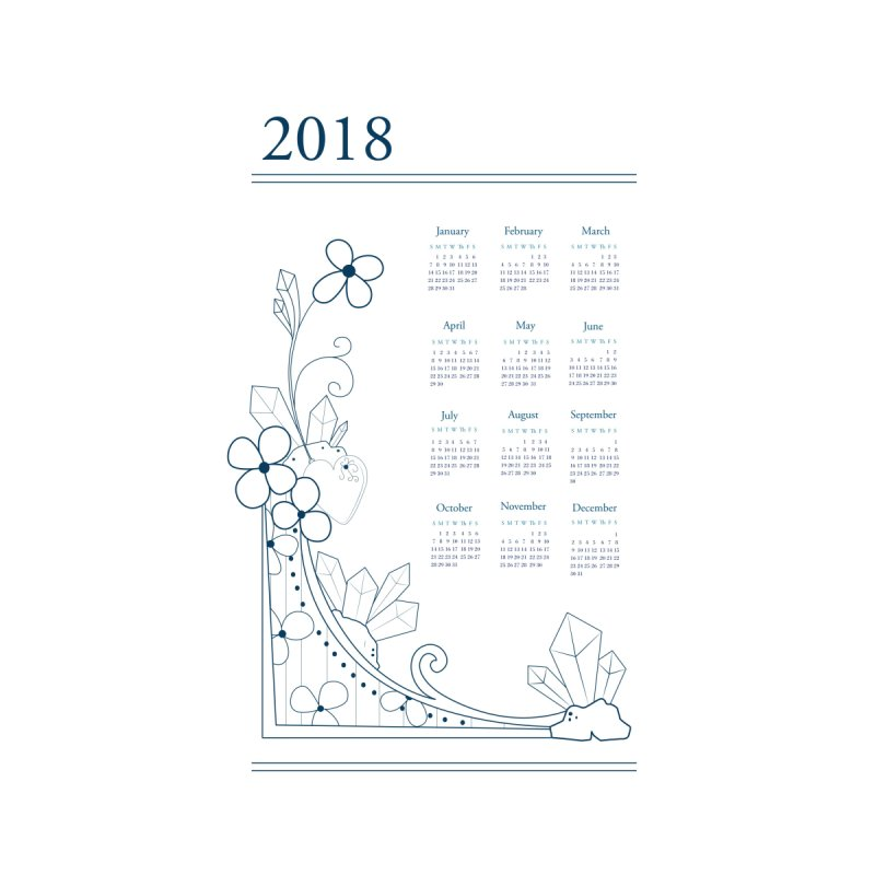 2018 Calendar None  by Svaeth's Artist Shop