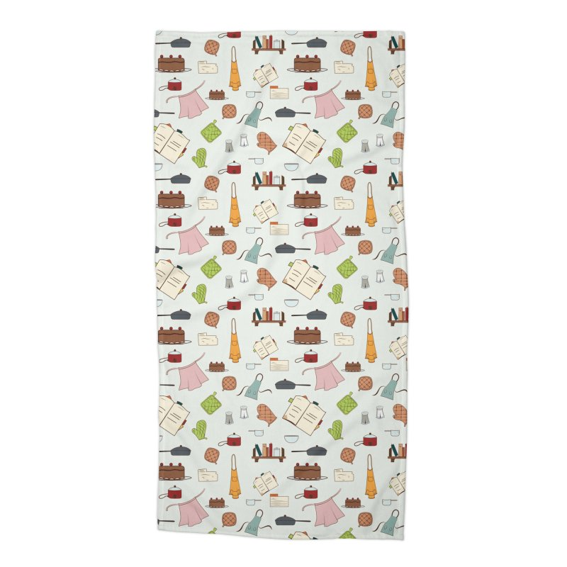 cooking Accessories Beach Towel by Svaeth's Artist Shop