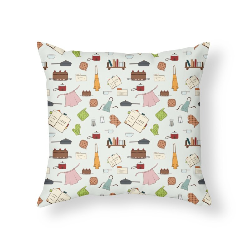 cooking Home Throw Pillow by Svaeth's Artist Shop