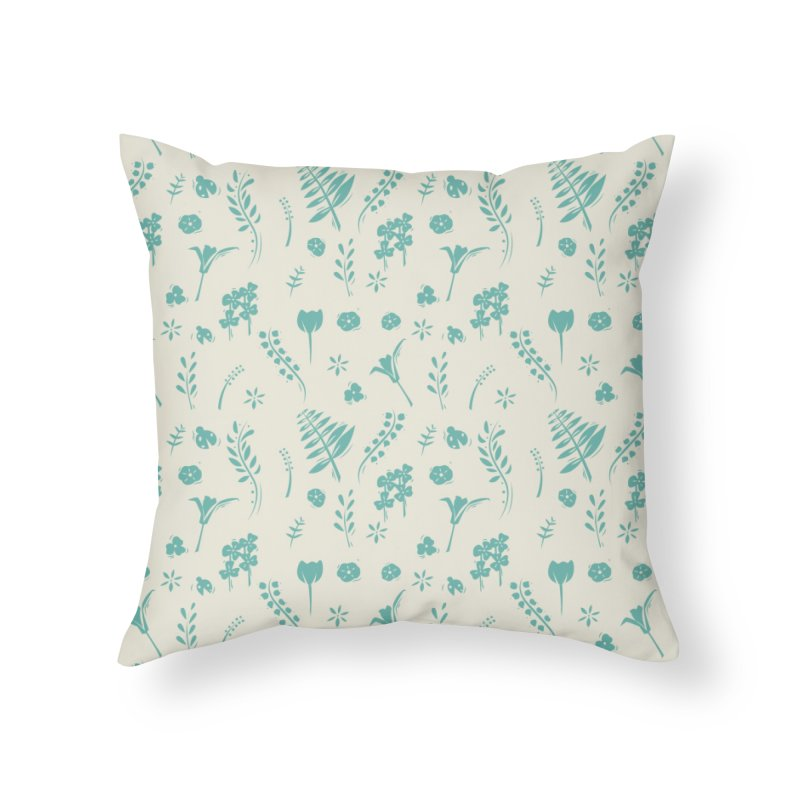 Botanical Home Throw Pillow by Svaeth's Artist Shop