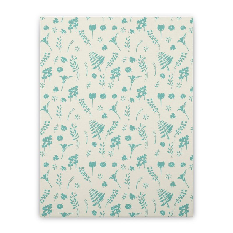 Botanical Home Stretched Canvas by Svaeth's Artist Shop