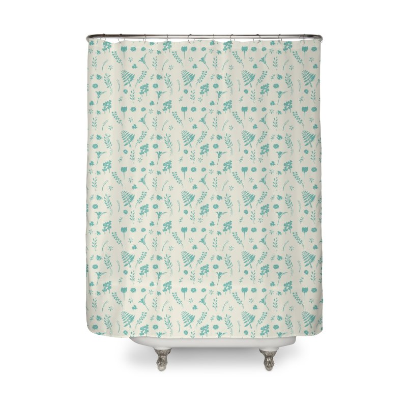 Botanical Home Shower Curtain by Svaeth's Artist Shop