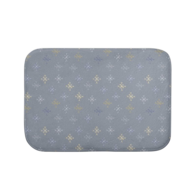 Snowflakes Home Bath Mat by Svaeth's Artist Shop