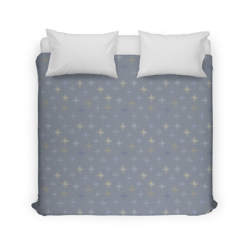 Snowflakes Home Duvet by Svaeth's Artist Shop