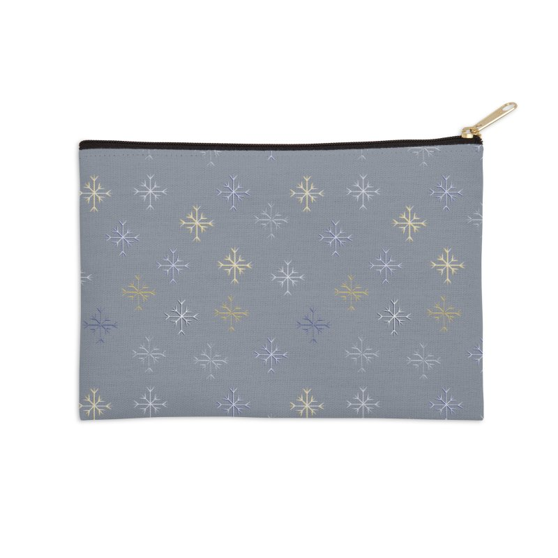 Snowflakes Accessories Zip Pouch by Svaeth's Artist Shop