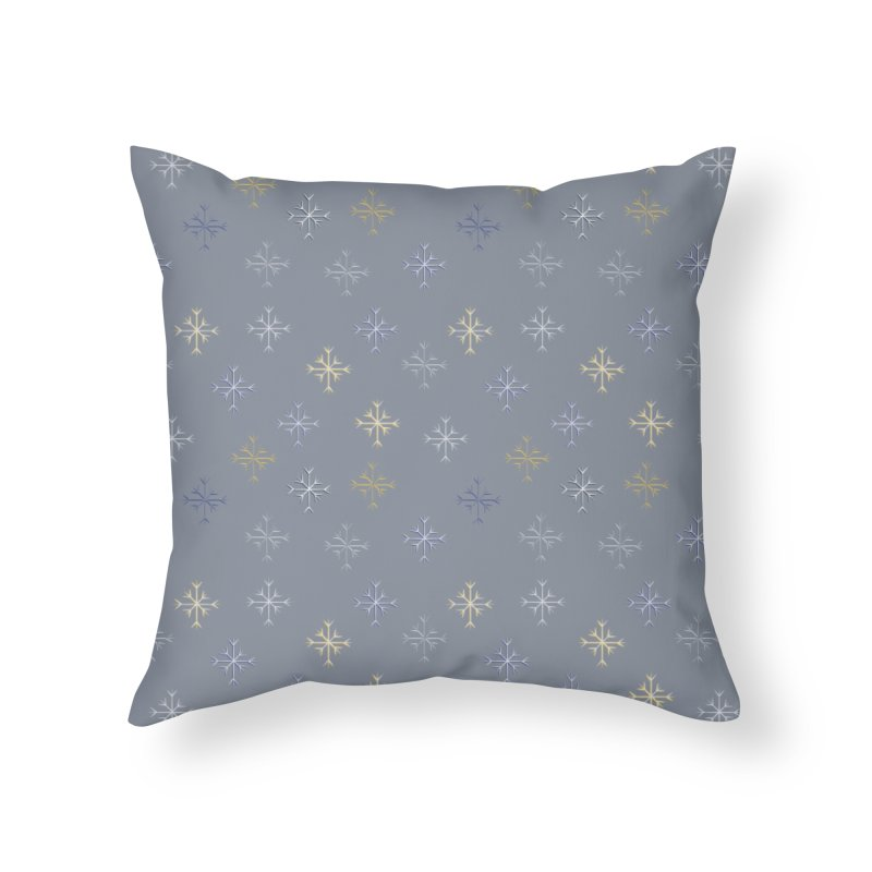 Snowflakes Home Throw Pillow by Svaeth's Artist Shop