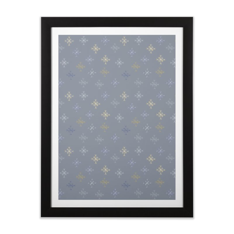 Snowflakes Home Framed Fine Art Print by Svaeth's Artist Shop