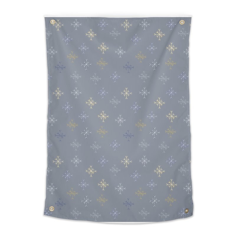 Snowflakes Home Tapestry by Svaeth's Artist Shop