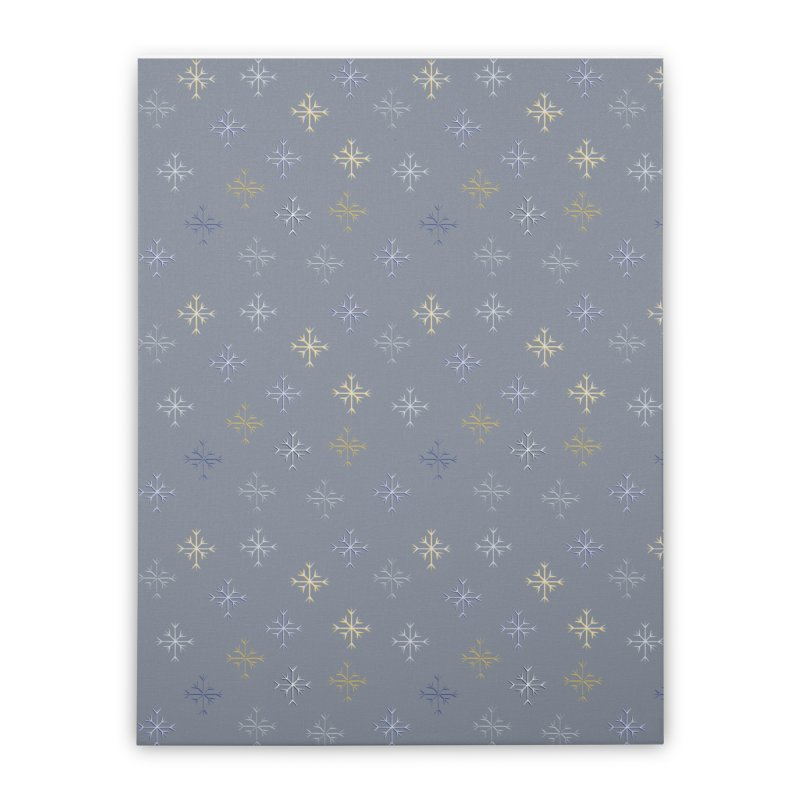 Snowflakes Home Stretched Canvas by Svaeth's Artist Shop