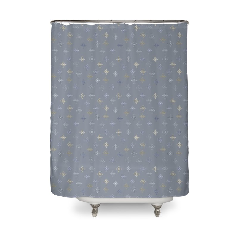 Snowflakes Home Shower Curtain by Svaeth's Artist Shop