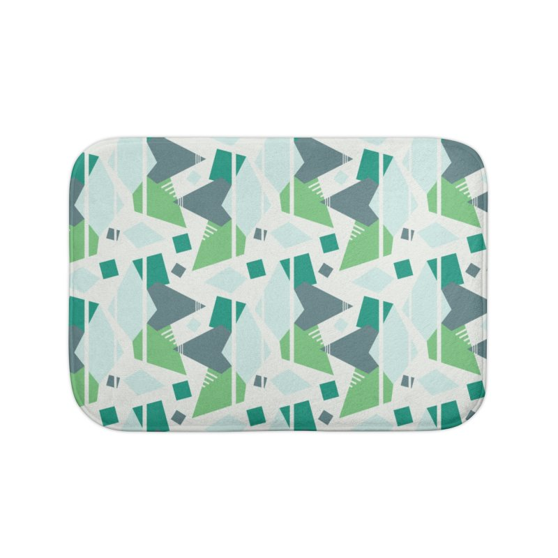 Fragmented Shapes Home Bath Mat by Svaeth's Artist Shop