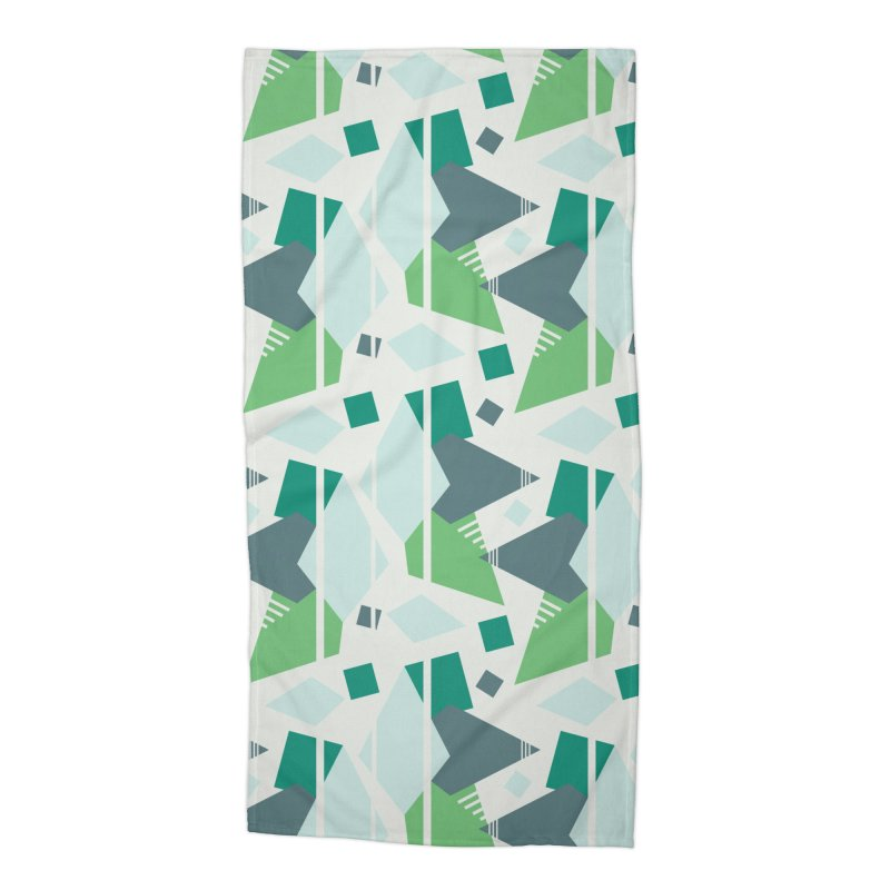 Fragmented Shapes Accessories Beach Towel by Svaeth's Artist Shop