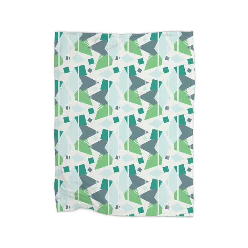 Fragmented Shapes Home Blanket by Svaeth's Artist Shop