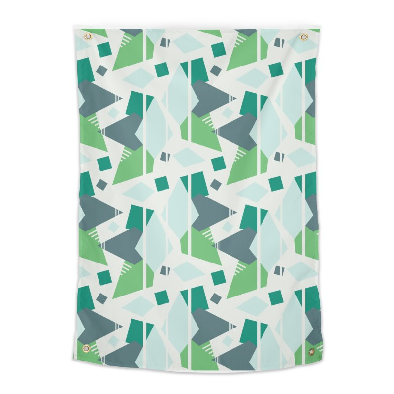 Fragmented Shapes Home Tapestry by Svaeth's Artist Shop
