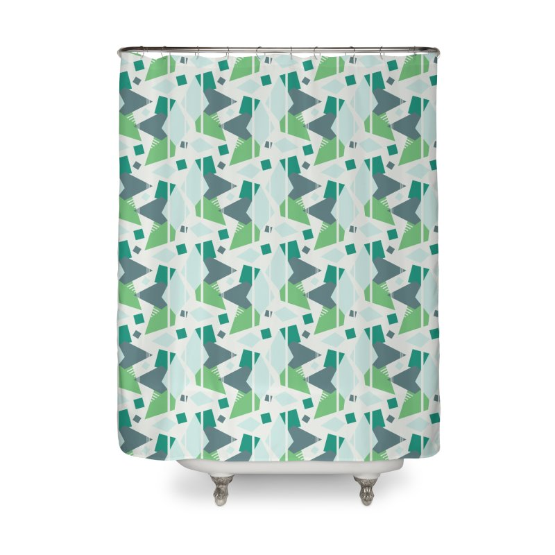 Fragmented Shapes Home Shower Curtain by Svaeth's Artist Shop