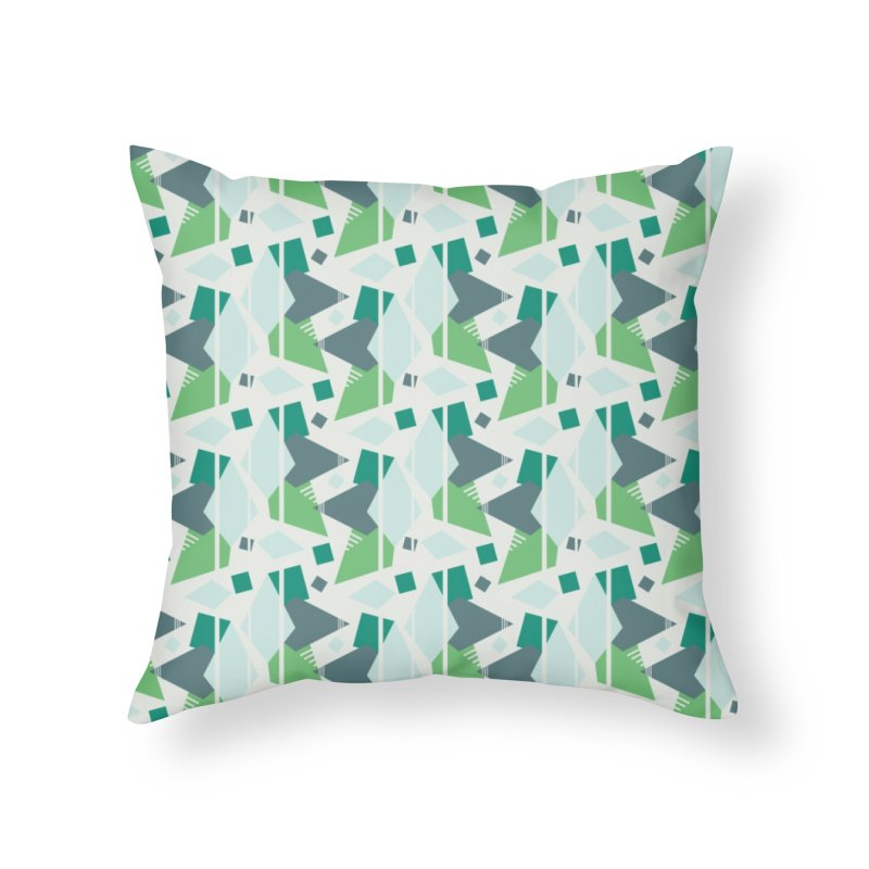 Fragmented Shapes Home Throw Pillow by Svaeth's Artist Shop