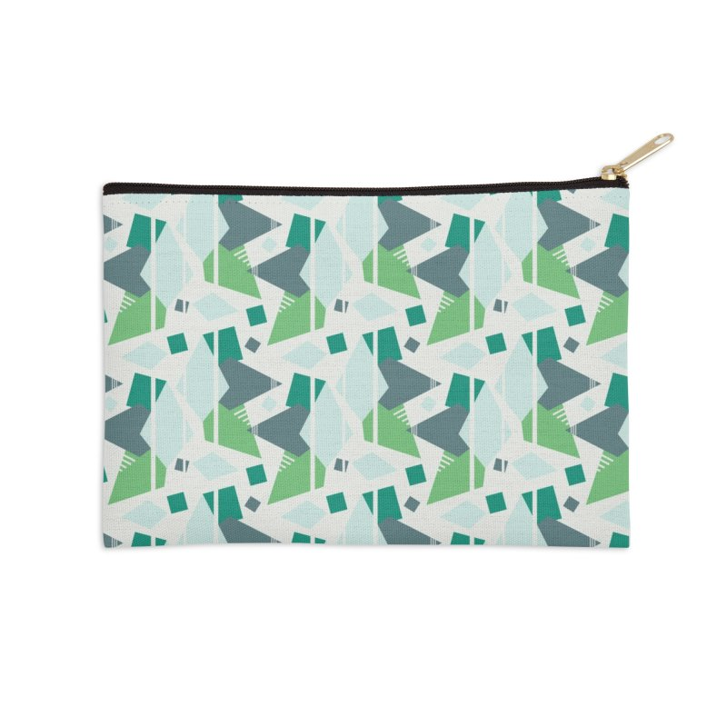 Fragmented Shapes Accessories Zip Pouch by Svaeth's Artist Shop