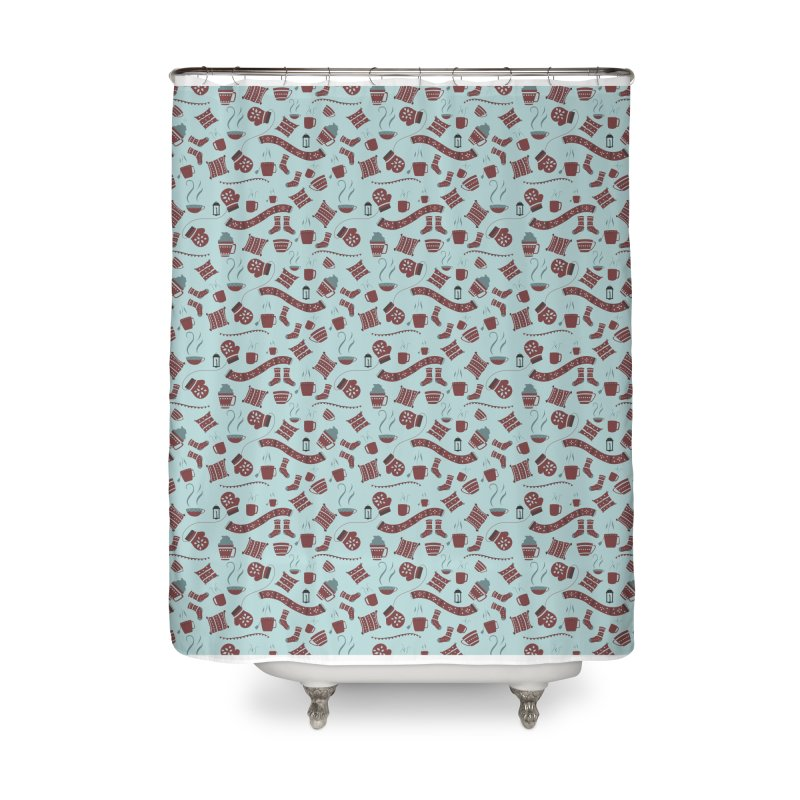 Hygge Home Shower Curtain by Svaeth's Artist Shop