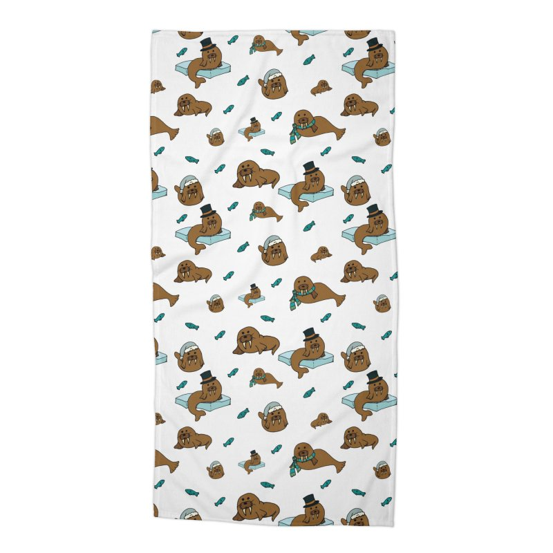 Walrus Accessories Beach Towel by Svaeth's Artist Shop