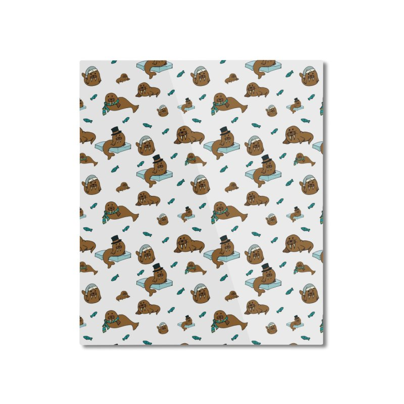 Walrus Home Mounted Aluminum Print by Svaeth's Artist Shop