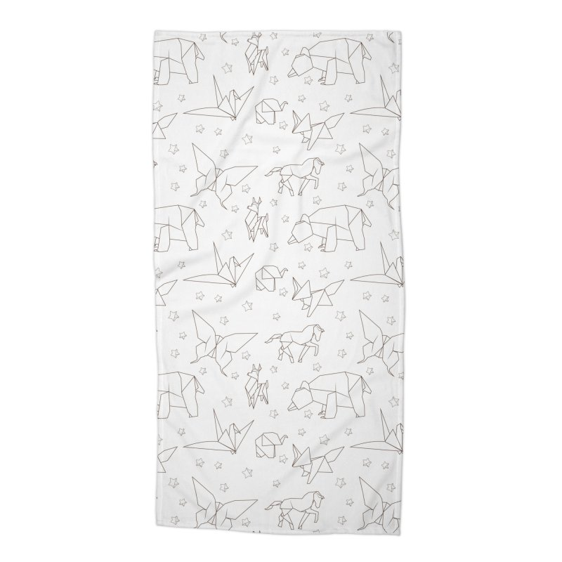 Origami Accessories Beach Towel by Svaeth's Artist Shop