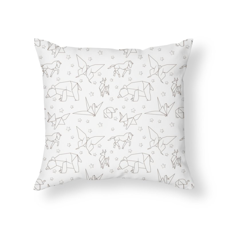 Origami Home Throw Pillow by Svaeth's Artist Shop