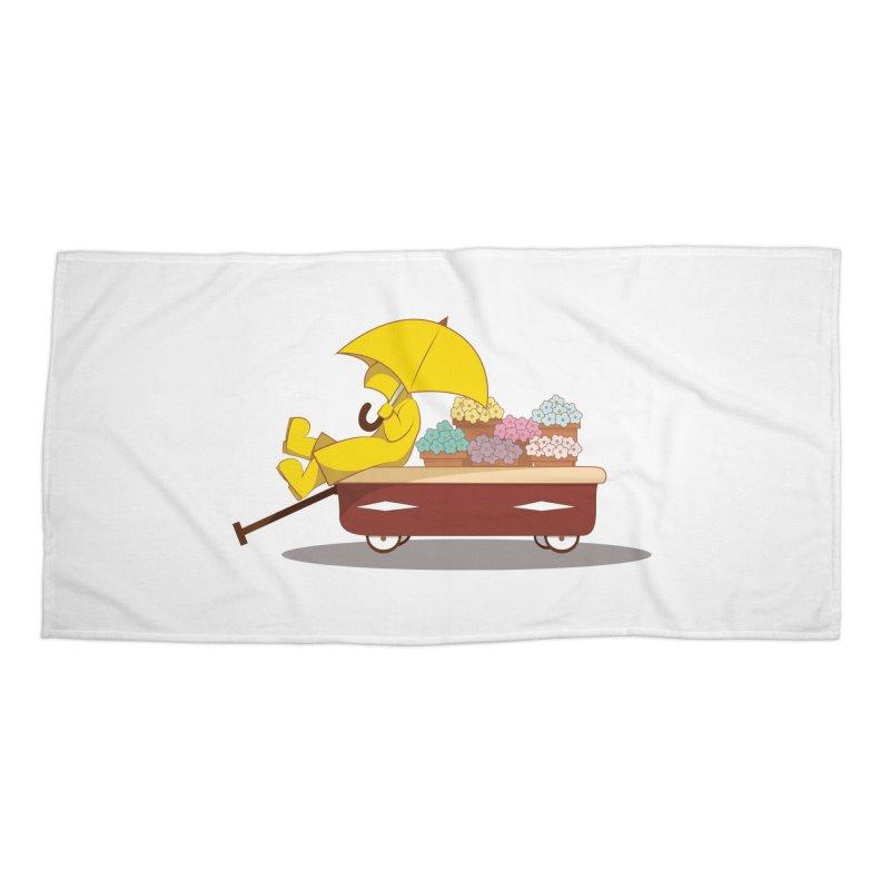 Spring Showers Accessories Beach Towel by Svaeth's Artist Shop