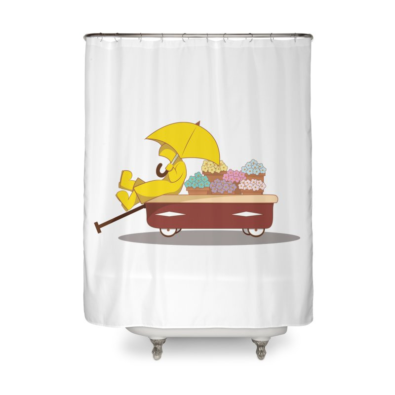 Spring Showers Home Shower Curtain by Svaeth's Artist Shop