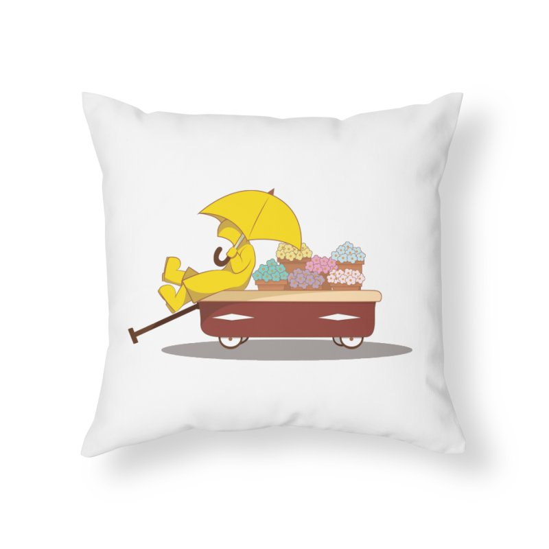 Spring Showers Home Throw Pillow by Svaeth's Artist Shop