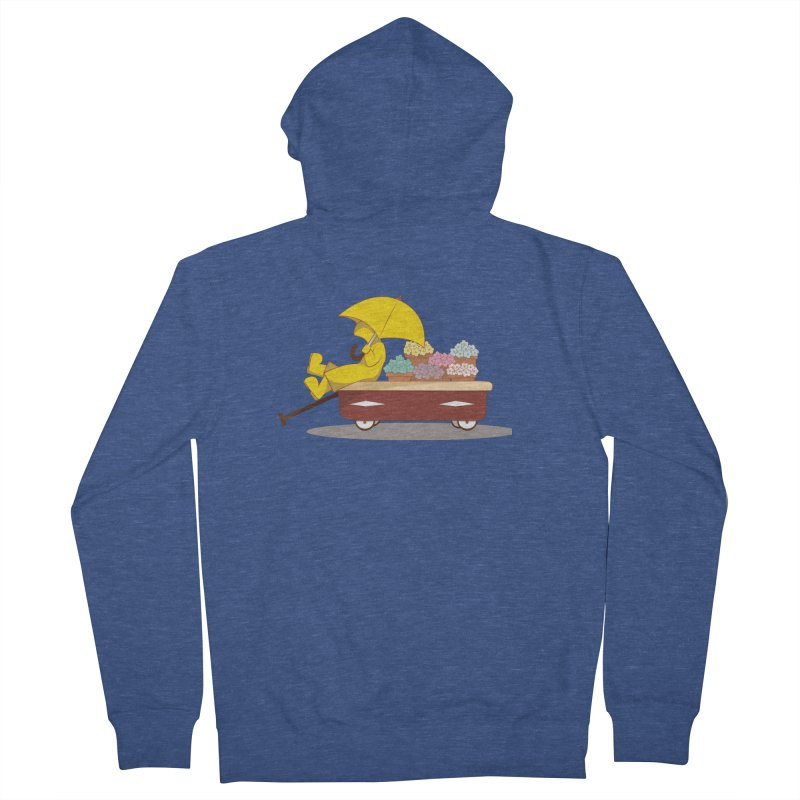 Spring Showers Men's French Terry Zip-Up Hoody by Svaeth's Artist Shop