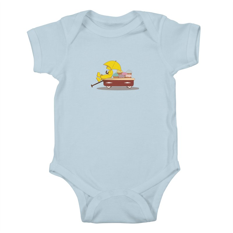 Spring Showers Kids Baby Bodysuit by Svaeth's Artist Shop