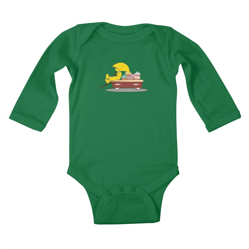 Spring Showers Kids Baby Longsleeve Bodysuit by Svaeth's Artist Shop