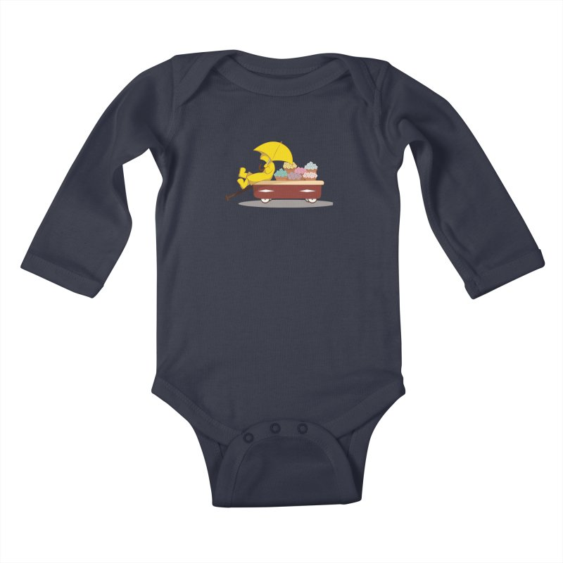 Spring Showers Kids Baby Longsleeve Bodysuit by Svaeth's Artist Shop