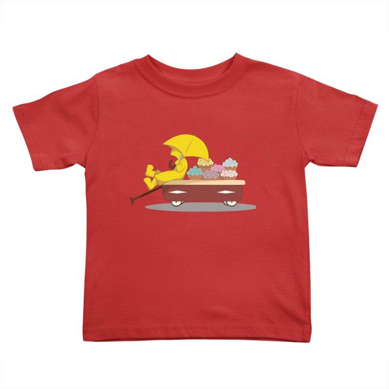 Spring Showers Kids Toddler T-Shirt by Svaeth's Artist Shop