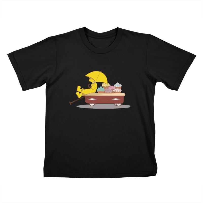 Spring Showers Kids T-Shirt by Svaeth's Artist Shop