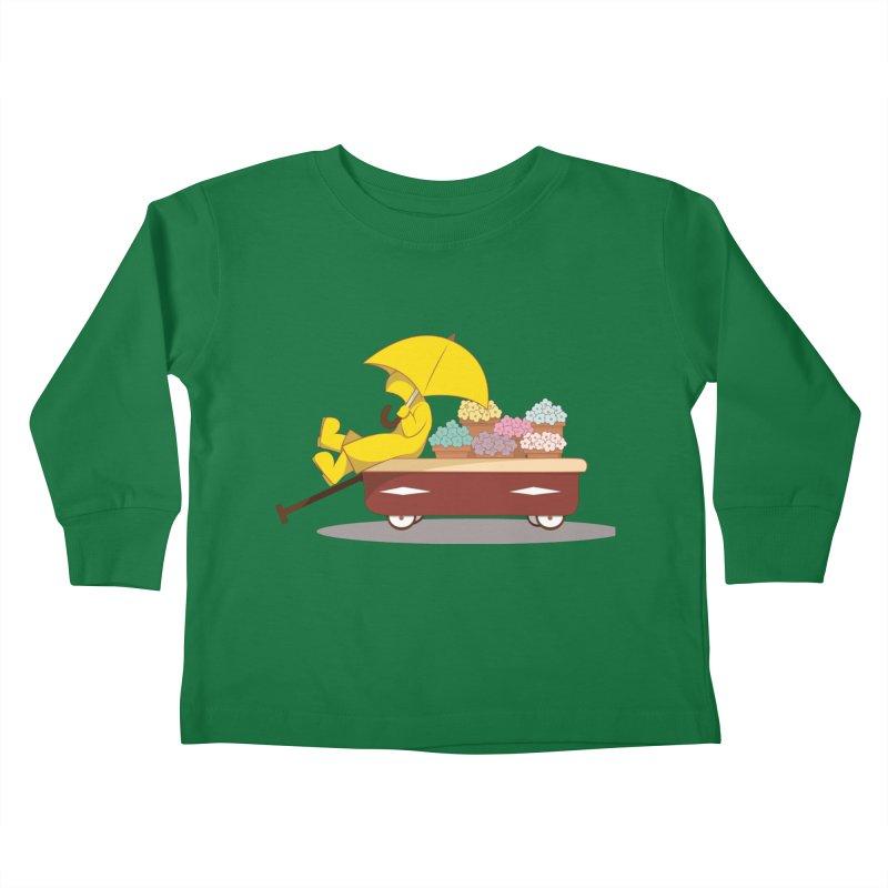 Spring Showers Kids Toddler Longsleeve T-Shirt by Svaeth's Artist Shop