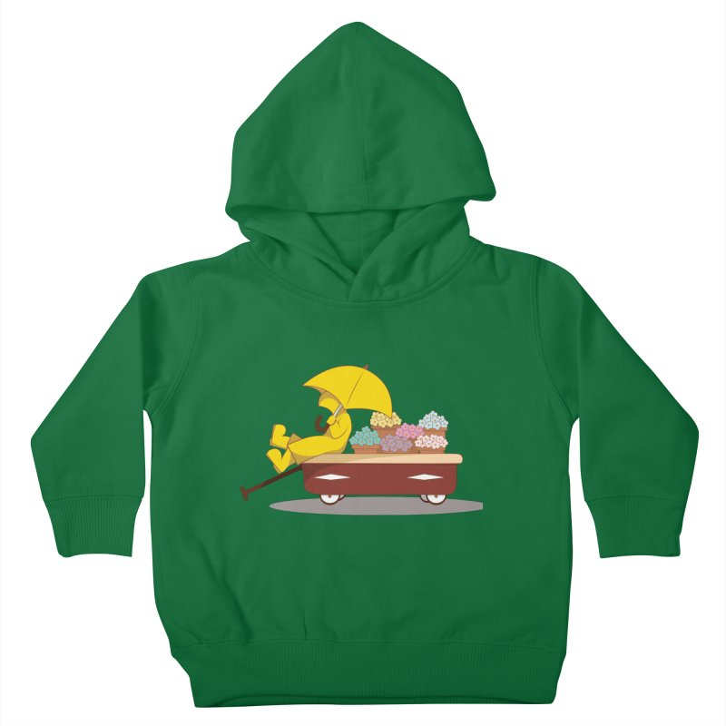 Spring Showers Kids Toddler Pullover Hoody by Svaeth's Artist Shop