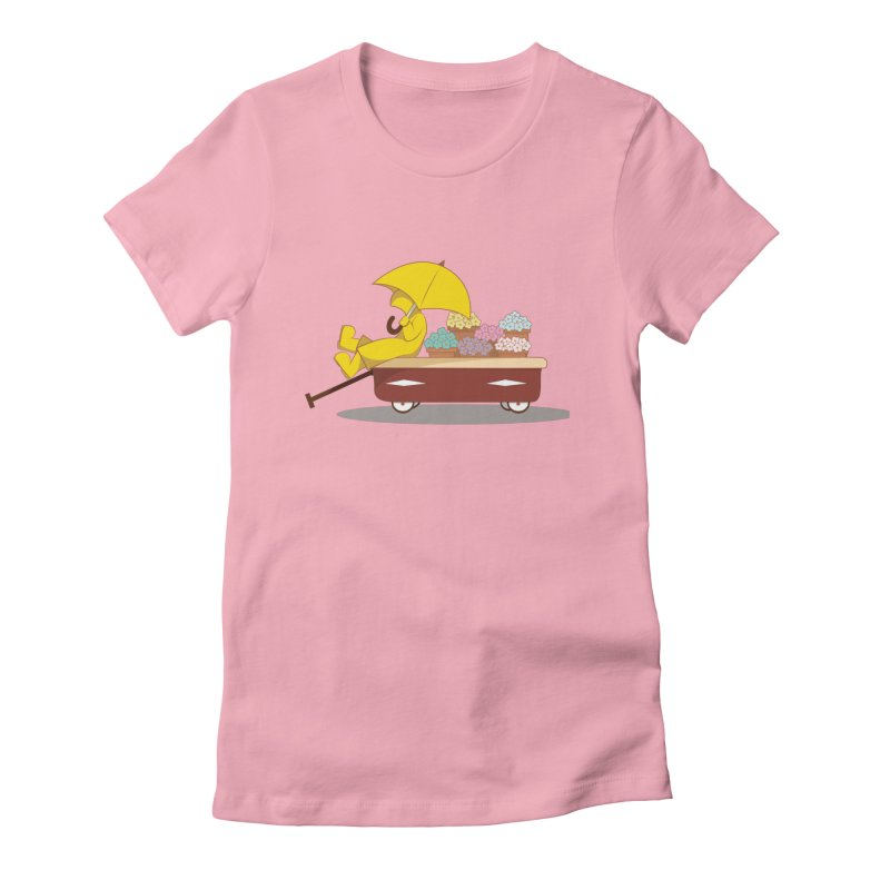 Spring Showers Women's Fitted T-Shirt by Svaeth's Artist Shop