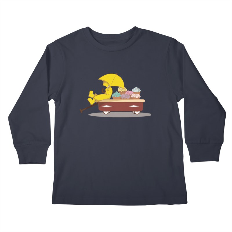 Spring Showers Kids Longsleeve T-Shirt by Svaeth's Artist Shop