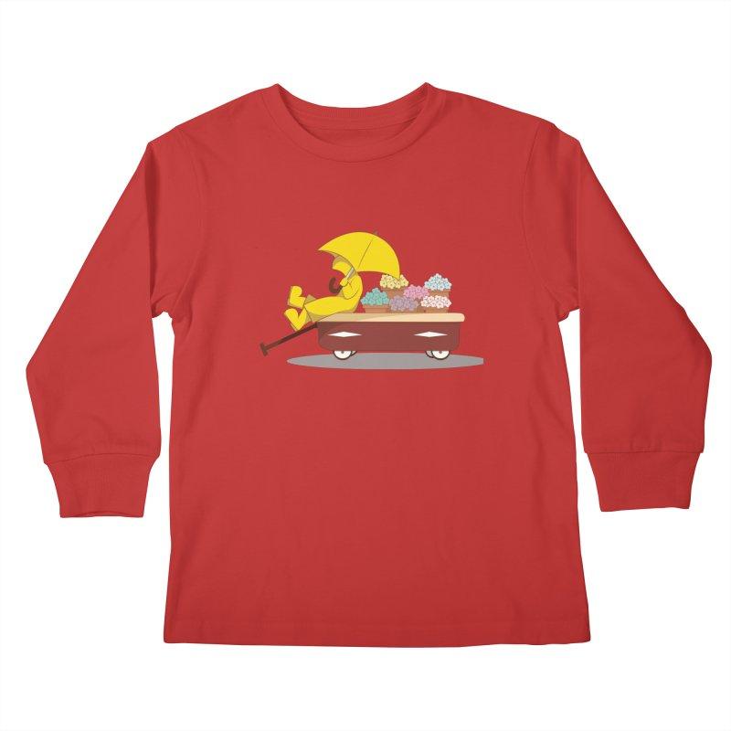 Spring Showers Kids Longsleeve T-Shirt by Svaeth's Artist Shop