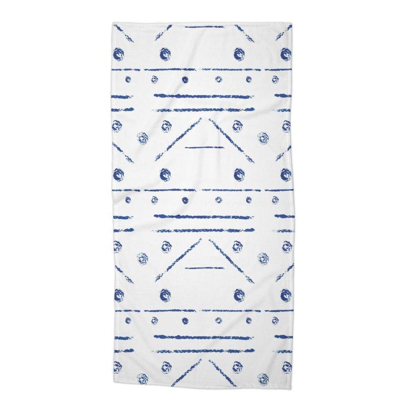 Geometric Blue Accessories Beach Towel by Svaeth's Artist Shop