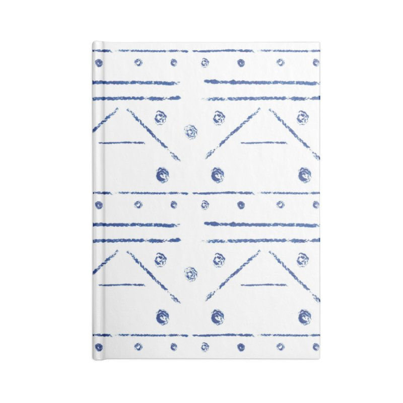 Geometric Blue Accessories Notebook by Svaeth's Artist Shop