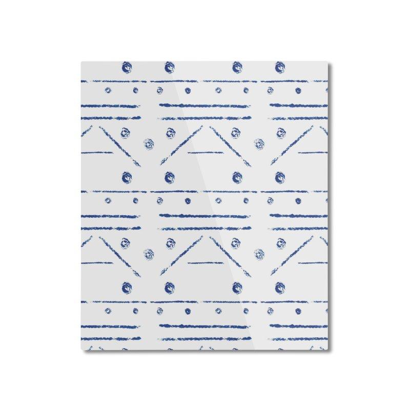 Geometric Blue Home Mounted Aluminum Print by Svaeth's Artist Shop
