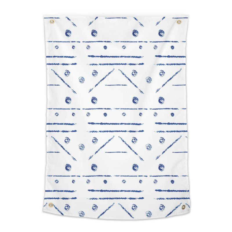 Geometric Blue Home Tapestry by Svaeth's Artist Shop