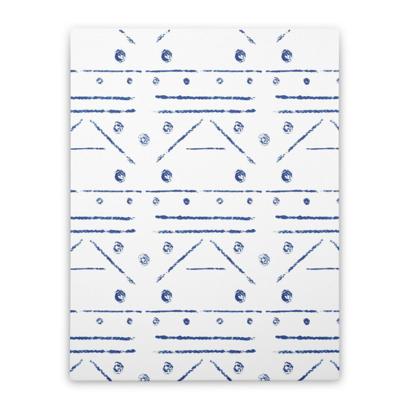 Geometric Blue Home Stretched Canvas by Svaeth's Artist Shop
