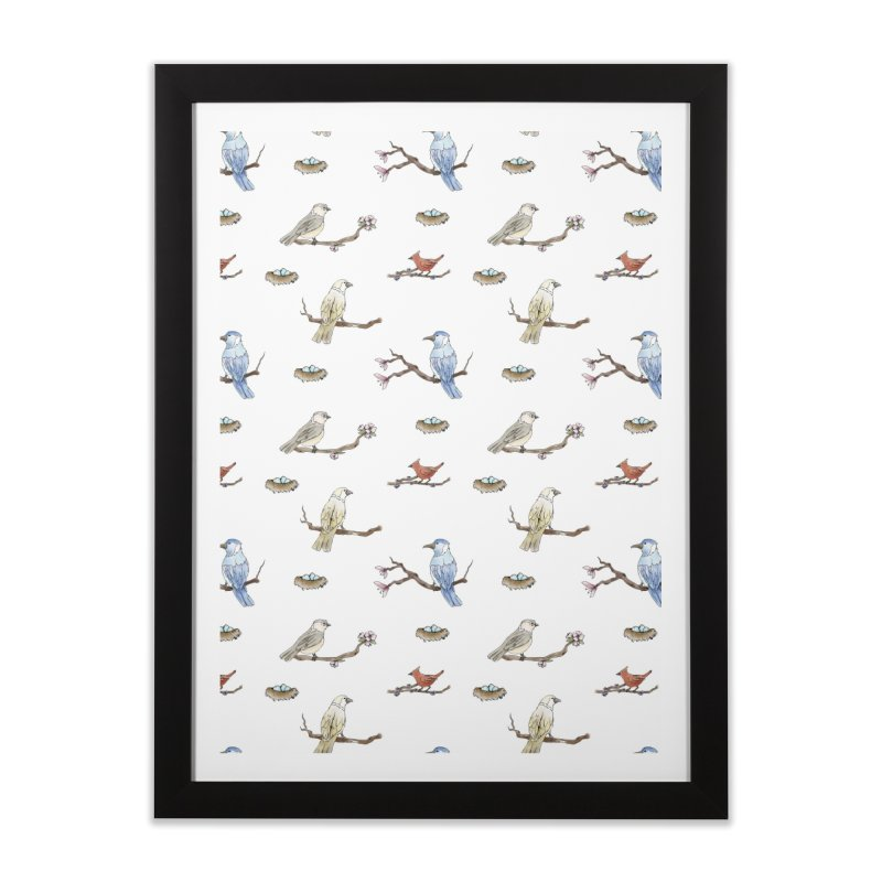 Spring Birds Home Framed Fine Art Print by Svaeth's Artist Shop