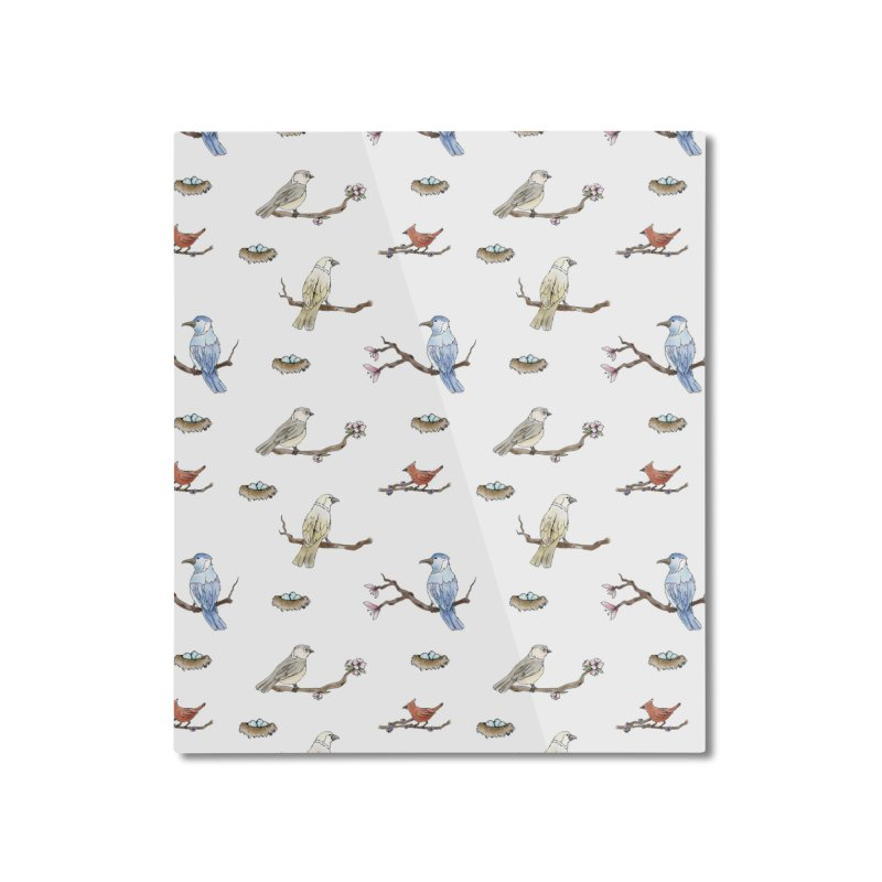 Spring Birds Home Mounted Aluminum Print by Svaeth's Artist Shop