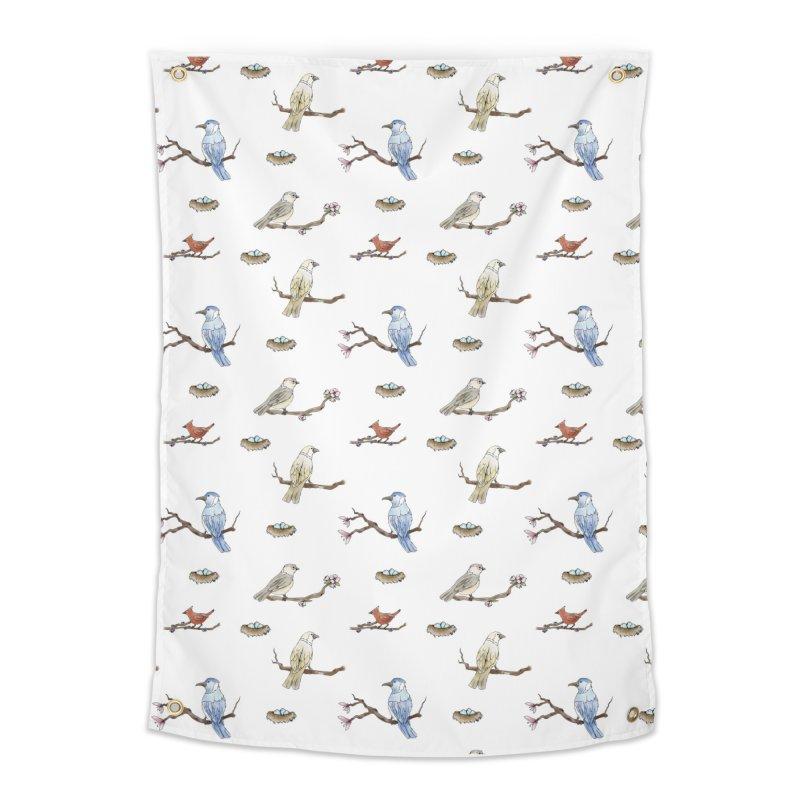 Spring Birds Home Tapestry by Svaeth's Artist Shop