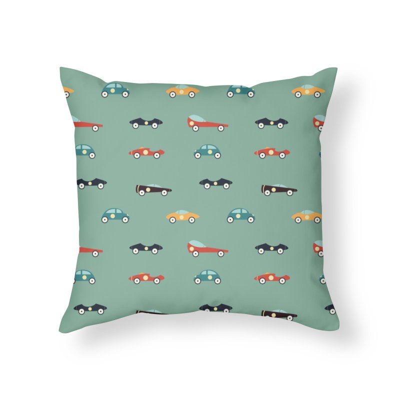 Racers Home Throw Pillow by Svaeth's Artist Shop
