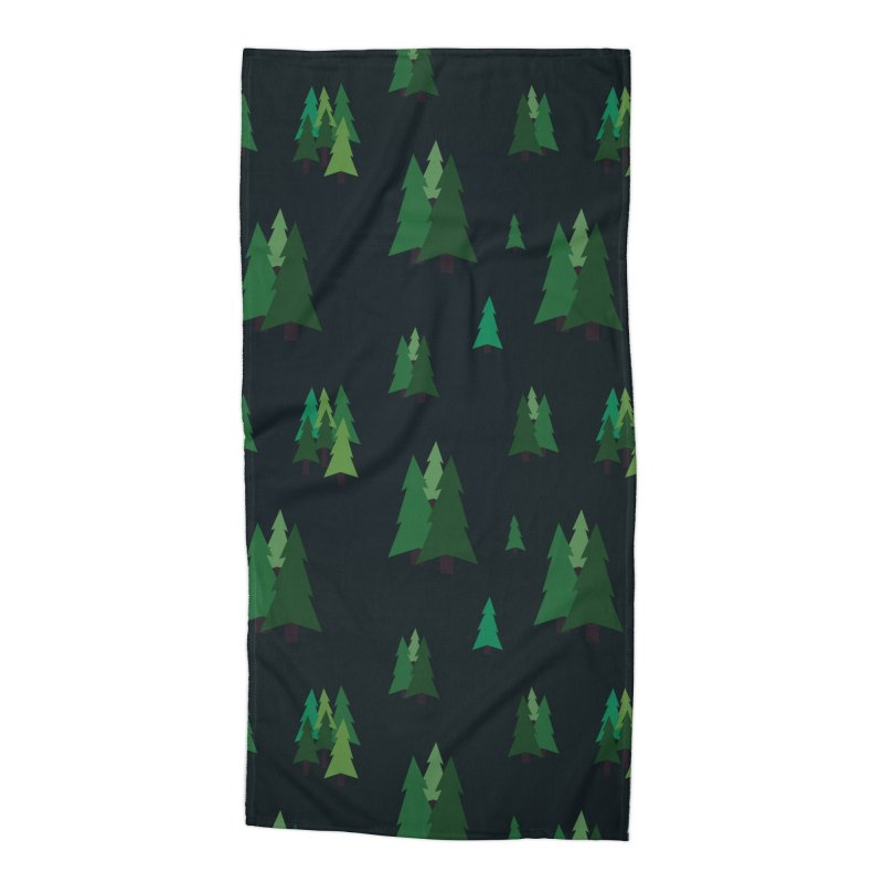 Pine Trees Accessories Beach Towel by Svaeth's Artist Shop